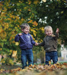 Great fun in autumn park