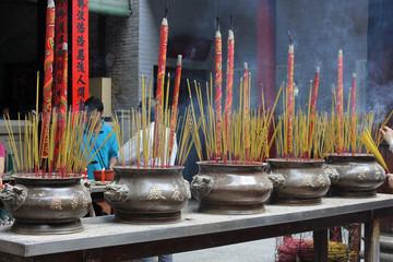 bracieri di incenso nella Pagoda di Thien Hau, Ho Chi MInh