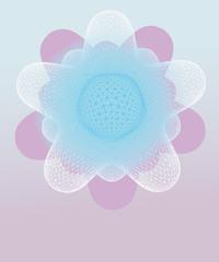 violet winter rounded star shape vector template