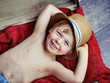Happy little boy with hat