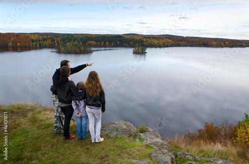 Family trip in the autumn season