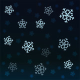 dark snow falling vector pattern