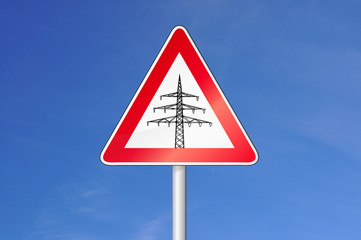 Achtung Stromtrasse