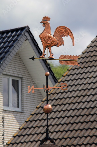 Gold Weathercock on the roof