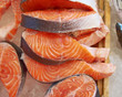 fresh salmon cut for sale