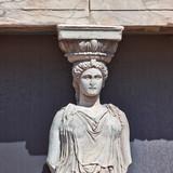 Caryatid detail, Acropolis of Athens, Greece poster