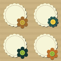decor scrapbook elements with flowers