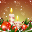 Illustration of christmas background with candle