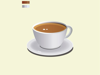 Tea Break Cup Vector