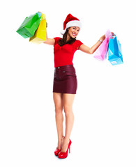 Christmas Shopping woman.
