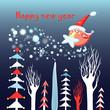 Christmas card with a bird