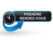 prendre rendez vous sur bouton web design bleu