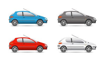 Vector collection web icons. car and auto set