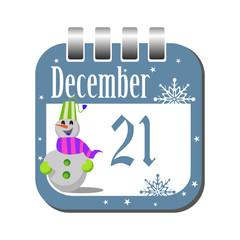 December twenty one