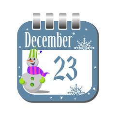 December twenty three