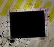 Grunge metallic picture frame, free space for pix