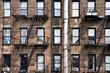 Façade avec escalier de secours - New York