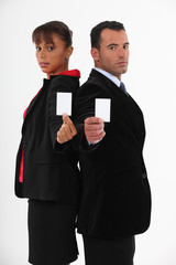 Business-partners offering cards