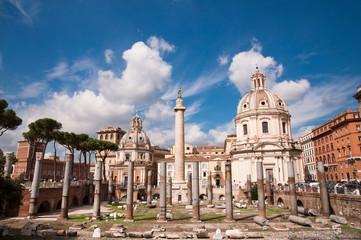 Fori Imperiali e Colonna Traiana at Roma - Italy