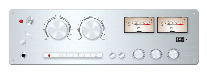 Analog audio device panel