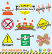 Vector Set: Work Safety and Construction Labels and Stickers