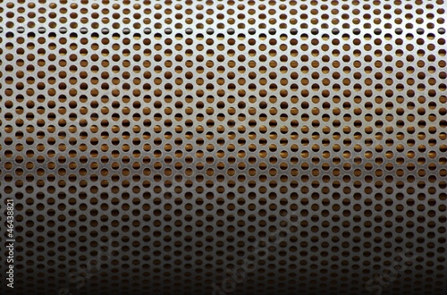Perforated metal plate background