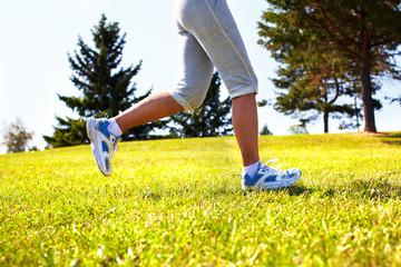 Jogging woman.