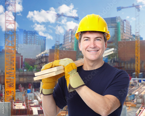Construction worker man.
