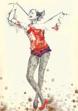 Gymnastik und Zirkus topic - Hand-Zeichnung in Vektor