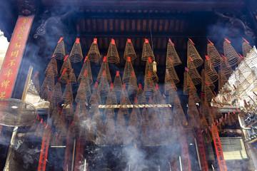 Incense Burners at Thien Hau Pagoda in Ho Chi Minh City (Saigon)