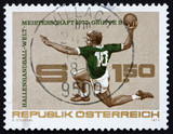 Postage stamp Austria 1977 Handball Player