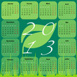 Calendrier 2013 : Feuille
