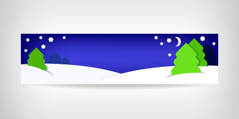 New Year's banner on blue background with place for text.