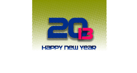 happy new year 2013 halftone