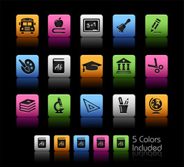 Education Icons / The vector file includes 5 colors