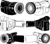 High-Definition Video Camera Vector 05
