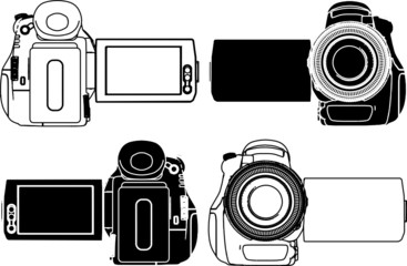 High-Definition Video Camera Vector 06