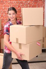 portrait of a woman moving