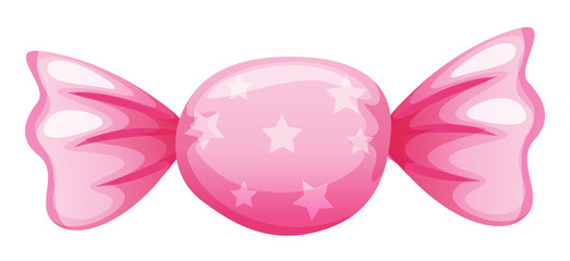 a pink candy