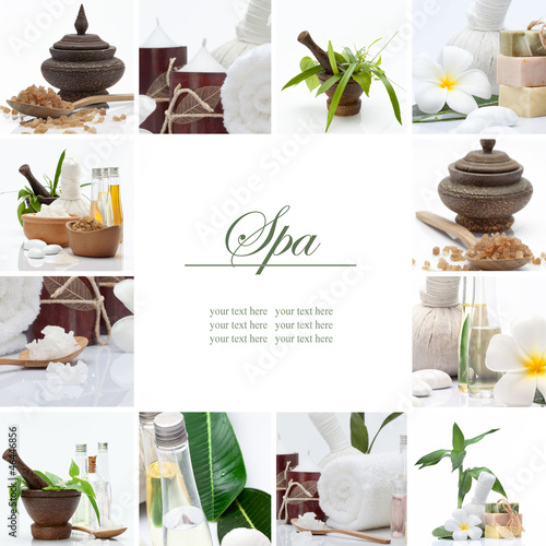 Spa theme collage composed of a few images