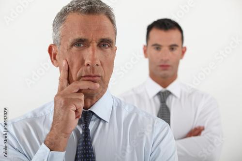 Pensive business team