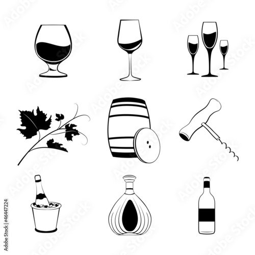 Set of wine items
