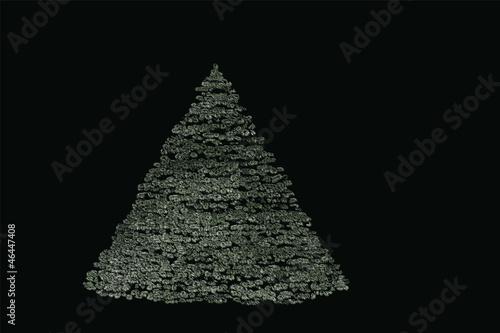 Editable Christmas Design Element - Wintry Fir-Tree