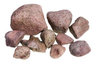 Red street stones