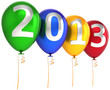 New 2013 Year party balloons decoration multicolor banner