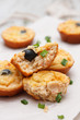 Muffins with tuna and olives