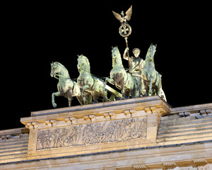 The Quadriga on top of the Brandenburger Tor, Berlin