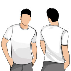 T-shirt men back and front