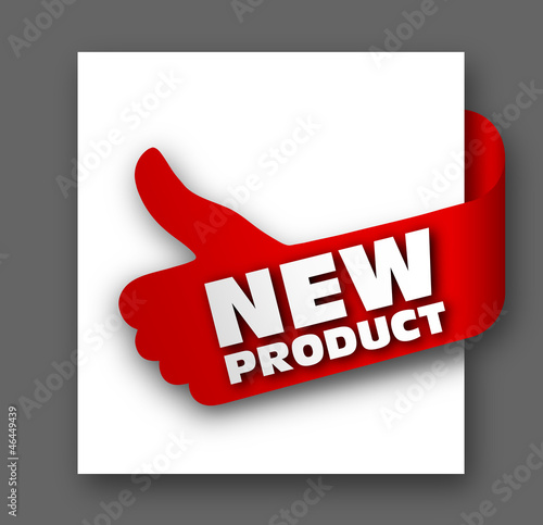 Thumb up sign - new product