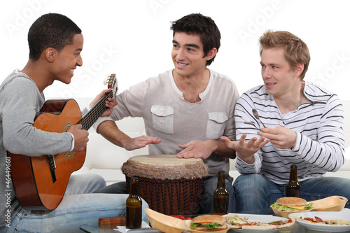 Convivial meal with music